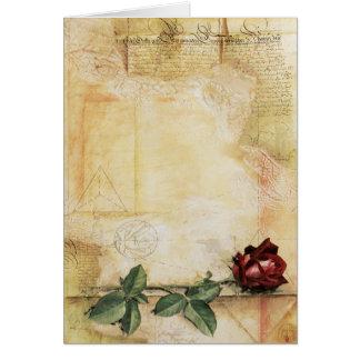 Da- Vincibuchstabe-Rosen-Anmerkungs-Karte Karte