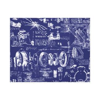 Da Vincis Pläne // Leinwanddruck