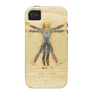 Da Vincis Vitruvian Mann mit Tätowierungen iPhone 4/4S Cover