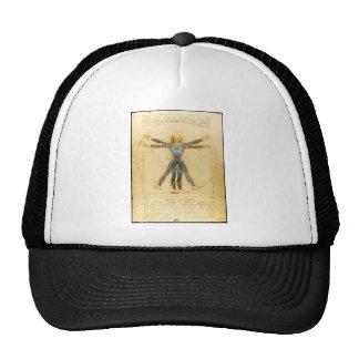 Da Vincis Vitruvian Mann mit Tätowierungen Baseball Kappe