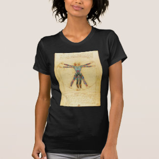 Da Vincis Vitruvian Mann mit Tätowierungen T-Shirt