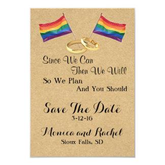 Da wir können:  Lesbisch Save the Date Wedding 8,9 X 12,7 Cm Einladungskarte