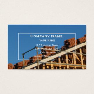 Dach-Baugewerbe-Karte Visitenkarte
