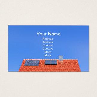 Dach mit Sonnenkollektoren Visitenkarte