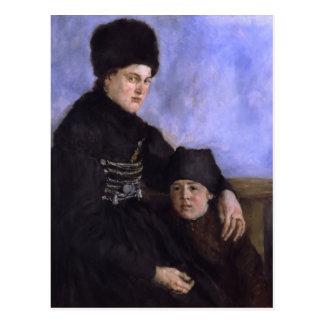 Dachau Frau und Child1873 - 1874 durch Wilhelm Postkarte