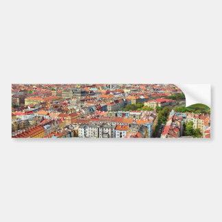 Dächer von Prag Autoaufkleber