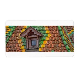 Dachfliesen mit Farbe in Obernai - Elsass -