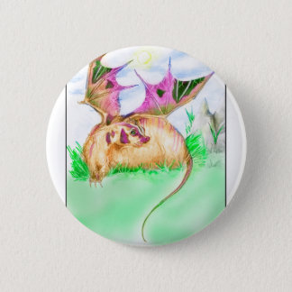 Dachs-Drache Runder Button 5,7 Cm