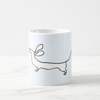 Dachs EinLine-Illustrations-Tasse Kaffeetasse