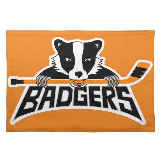 Dachs-Hockey-Logo Tischset