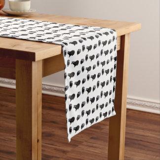 Dachs-Raserei-Tabellen-Läufer (wählen Sie Farbe) Kurzer Tischläufer