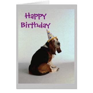 Dachshund-Geburtstags-Hund Karte