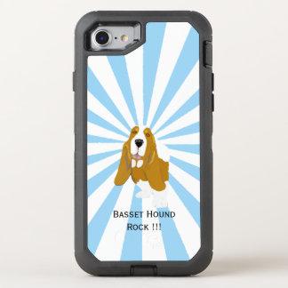 Dachshund-Jagdhund auf weißer Sternexplosion OtterBox Defender iPhone 8/7 Hülle