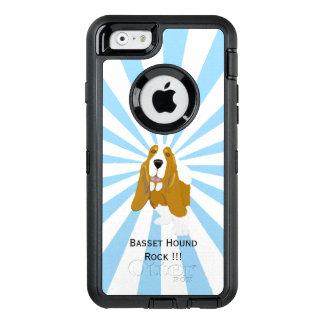 Dachshund-Jagdhund auf weißer Sternexplosion OtterBox iPhone 6/6s Hülle
