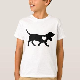 Dachshund-Jagdhund-Herz scherzt T - Shirt