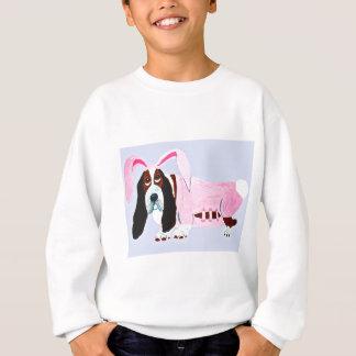 Dachshund-Jagdhund im rosa Häschen-Anzug Sweatshirt