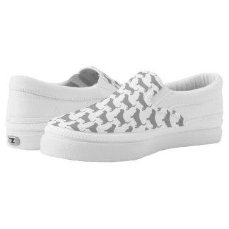 Dachshund-Jagdhund-Silhouette-Muster Slip-On Sneaker