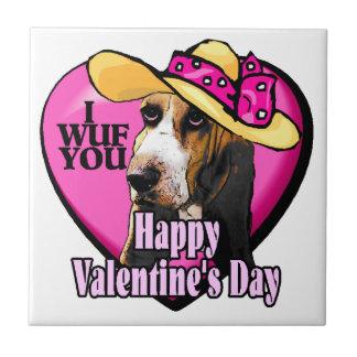 Dachshund-Jagdhund-Valentinstag Keramikfliese