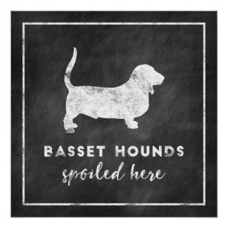 Dachshund-Jagdhunde verdarben hier Vintage Tafel Poster