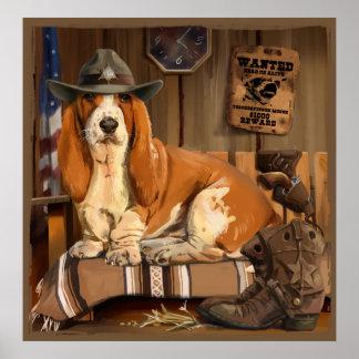 Dachshund-Sheriff Poster