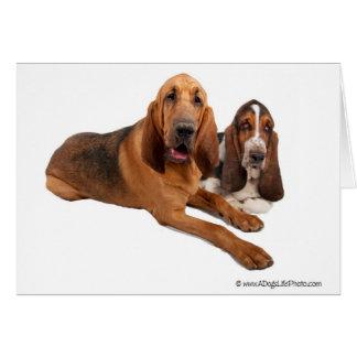 Dachshund-und Bluthund-Freunde Karte
