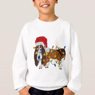Dachshund verwirrt in den Weihnachtslichtern Sweatshirt