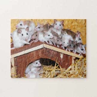 Dachspitze-Mäuse zackig Puzzle