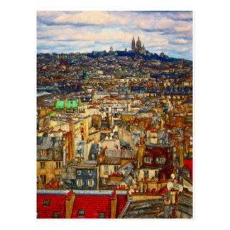 Dachspitzen von Paris durch Shawna Mac Postkarte