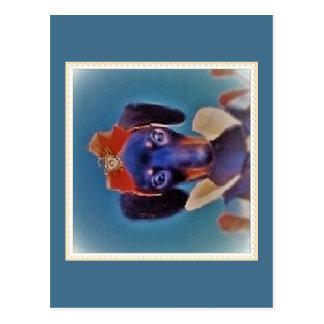 Dachsund-Prinzessin Postkarte