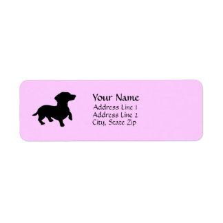 Dackel-Adressen-Etiketten Rücksendeetikett