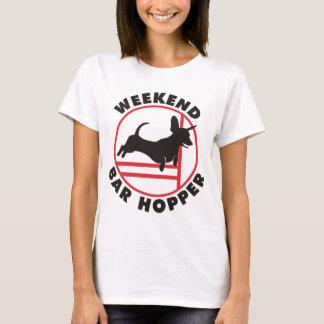 Dackel-Agility-Wochenenden-Bar-Trichter T-Shirt