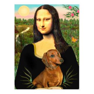 Dackel (brown1) - Mona Lisa Postkarte
