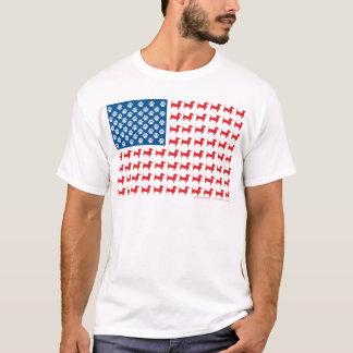 Dackel - Dackel-patriotische amerikanische Flagge T-Shirt
