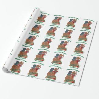 """Dackel """"ein Weihnachten Carol"""" kleiner Tim Geschenkpapier"""