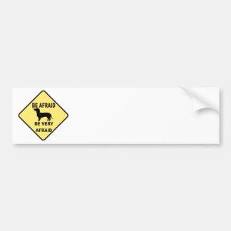 Dackel-Hund humorvoll Autoaufkleber