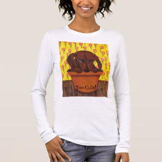 Dackel-Hund ist zu niedlich! Langarm T-Shirt