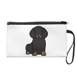 Dackel-HundeCartoon Wristlet Handtasche
