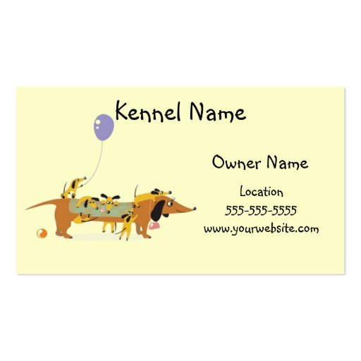 Dackel-Hundehütte-Mamma und Welpen Visitenkartenvorlage