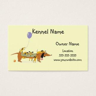 Dackel-Hundehütte-Mamma und Welpen Visitenkarte