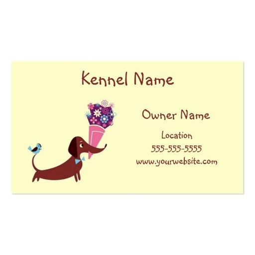 Dackel-Hundehütte Visitenkarten