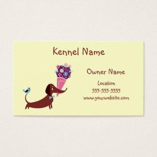 Dackel-Hundehütte Visitenkarte