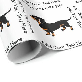 Dackel-HundeLiebe - niedliche kleine Dackel Geschenkpapier