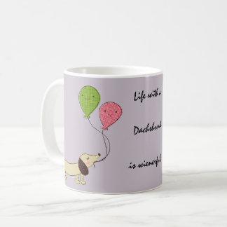 Dackel-Kaffee-Tassen-Dackelgeschenk Dackel-Hund Kaffeetasse