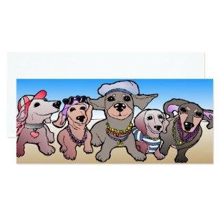 Dackel-Karte Dachs-Hund Sausage Dogs Card Karte