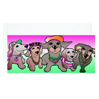 Dackel-Karte Dachs-Hund Sausage Dogs Card Pink Karte