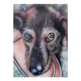 Dackel-Karte Dachs-Hund Sausage Dogs Poster