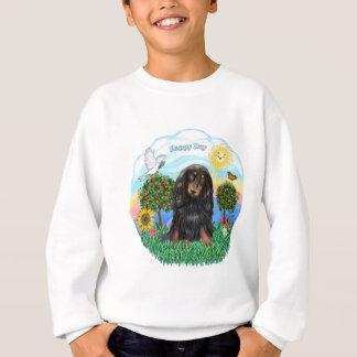 Dackel (LH - Schwarz-TAN) Sweatshirt