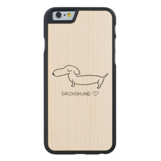 Dackel-Liebe Carved® iPhone 6 Hülle Ahorn