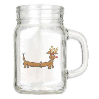 Dackel-Ren Einmachglas