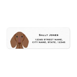 Dackel-Rücksendeadresseaufkleber - Hundeaufkleber